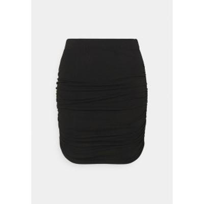 オブジェクト プティ レディース スカート ボトムス OBJLUCA PAPE SKIRT - Mini skirt - black black