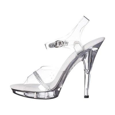 5 Heel Clear Wide Width Sandal.【並行輸入品】