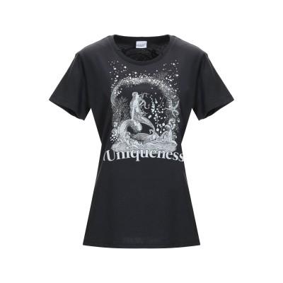 PINKO UNIQUENESS T シャツ ブラック XS コットン 100% / ガラス / アルミニウム / 真鍮/ブラス T シャツ