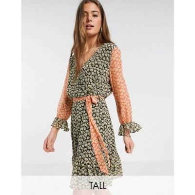 ワイ エー エス Y.A.S Tall レディース ワンピース 七分袖 ワンピース・ドレス Daisy 3/4 sleeve mixed ditsy floral dress フローラル