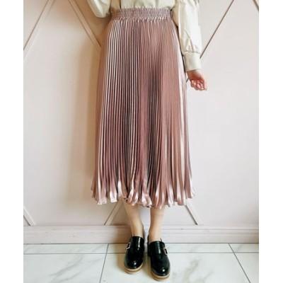 シャイニーランダムプリーツスカート