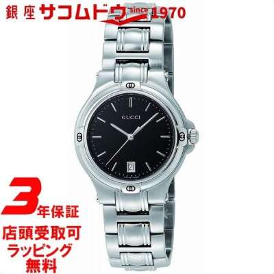 グッチ GUCCI 腕時計 ウォッチ 9045 SS ブラック YA090304 メンズ 並行輸入品