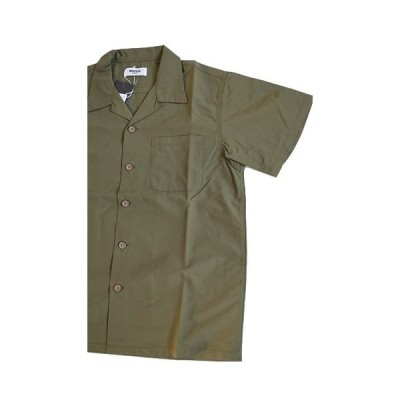 "MOSSIR(モシール)〜""John"" Open Coller Shirts Green〜"