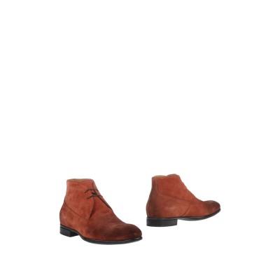 デュカルス DOUCAL'S ショートブーツ 赤茶色 41 革 ショートブーツ