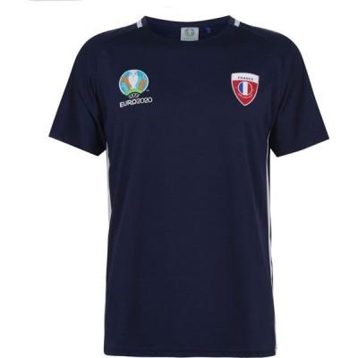 UEFA メンズ Tシャツ トップス Euro 2020 France T Shirt Navy