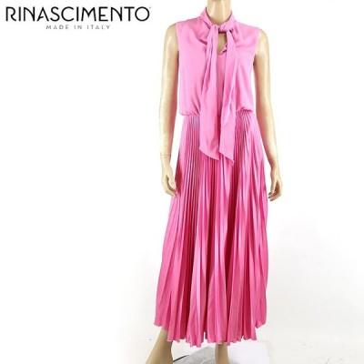 リナシメント(RINASCIMENTO)レディース ドレス ピンク系  襟はリボン プリーツタイプ イタリア製 (サイズ/XS)*rc4807