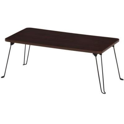 不二貿易 ローテーブル 80×40cm ブラウン 10862 P604BR