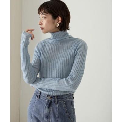 KBF / ケービーエフ 【WEB限定】ワイドリブタートルネック