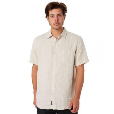 ザアカデミーブランド Academy brand メンズ 半袖シャツ トップス Hampton Linen Ss Shirt Oatmeal