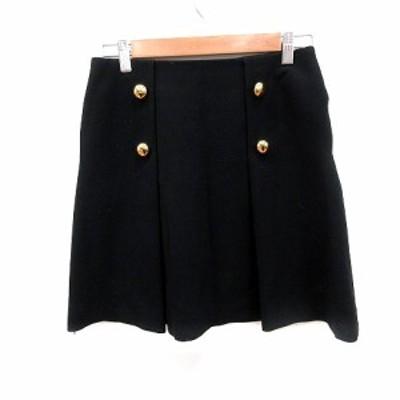 【中古】ジュエルチェンジズ Jewel Changes アローズ スカート フレア ミニ 36 黒 ブラック /RT レディース