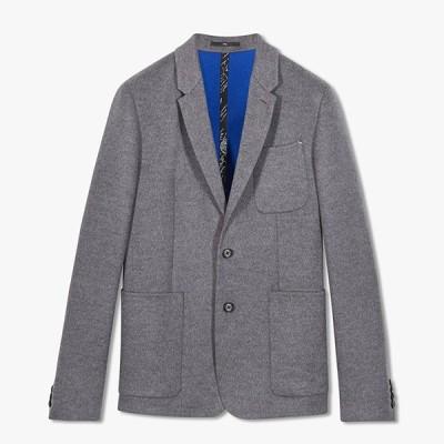 ベルルッティ Berluti☆メンズDouble Face Jacketジャケット【mysterious grey / deep sea blu 】【送料無料】【正規品】