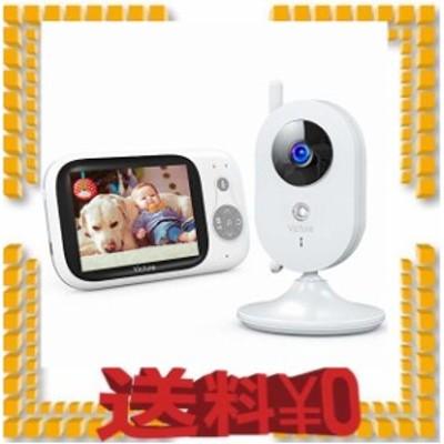Victure ベビーモニター 遠隔監視 双方向音声通信 カメラ 見守りカメラ 暗視機能付き 子守唄内蔵 多機能付き 360度回転 ベビーカメラ