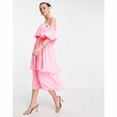 リバーアイランド River Island レディース ワンピース スリップドレス Aライン ワンピース・ドレス Ruffle Tiered Maxi Slip Dress In