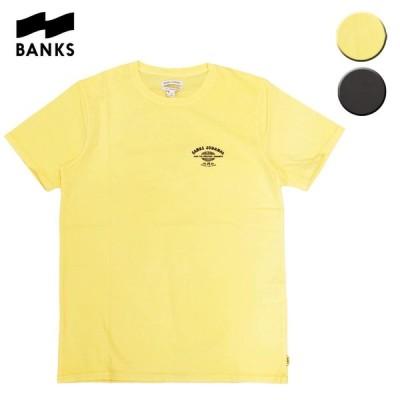 BANKS バンクス Tシャツ 半袖 TOUR TEE メンズ レディース イエロー ブラック OOO