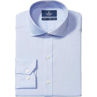 バトゥンド ダウン Buttoned Down メンズ シャツ 大きいサイズ Big & Tall Tailored Fit Cutaway Collar Solid Non-Iron No Pocket Dress Shirt Blue