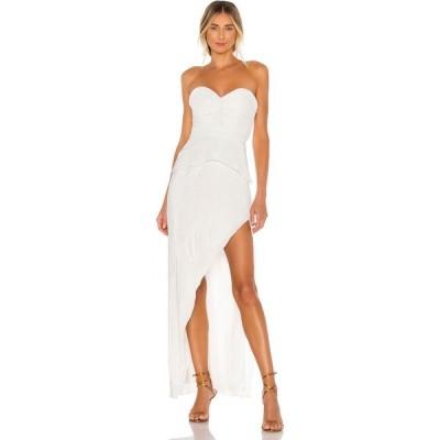エヌビーディー NBD レディース パーティードレス ワンピース・ドレス Easton Gown Metallic White