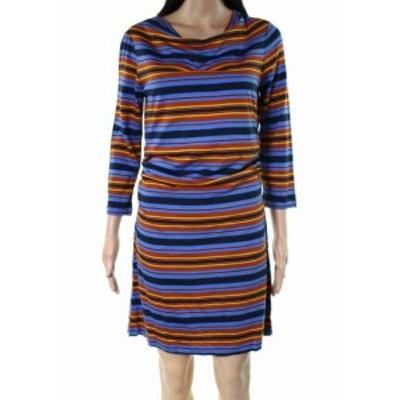 Patagonia パタゴニア ファッション ドレス Patagonia NEW Blue Womens Size Large L Striped Cowl Neck Sheath Dress