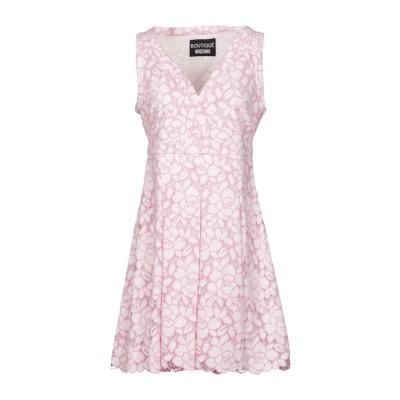 BOUTIQUE MOSCHINO ミニワンピース&ドレス ピンク 42 コットン 62% / ナイロン 38% ミニワンピース&ドレス