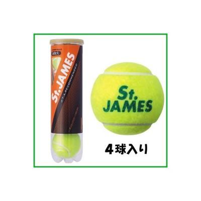 DUNLOP セントジェームス 4球入りボトル STJAMESE4DOZ ダンロップ 硬式 テニスボール