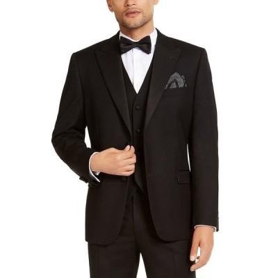 アルファニ ジャケット&ブルゾン アウター メンズ Men's Classic-Fit Stretch Black Tuxedo Jacket,  Black