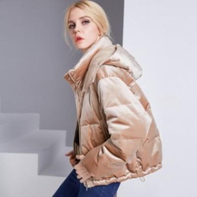ダウンコート レディース ダウン 大きいサイズ 着痩せ カジュアル 気品溢れる 冬服 防寒着 おしゃれ レディス 女性用 2色