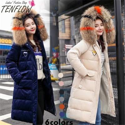 ダウンコート レディース ダウンジャケット 中綿コート ロングコート フード付き ダウン アウター 女性用コート 防寒 大きいサイズ