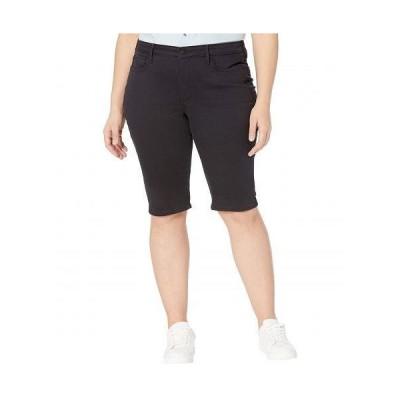 NYDJ Plus Size エヌワイディージェー レディース 女性用 ファッション ショートパンツ 短パン Plus Size Denim Knee Capris in Black - Black