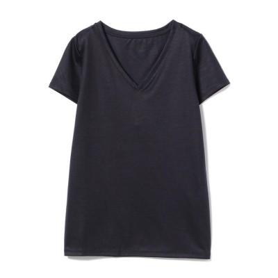 (Demi-Luxe BEAMS/デミルクスビームス)【洗える】Demi-Luxe BEAMS / リヨセル ベーシックVネックTシャツ/レディース NAVY