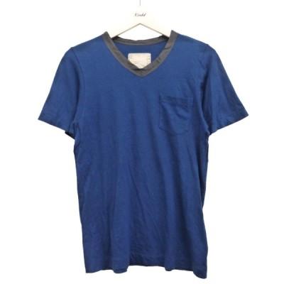 【10月12日値下】sacai VネックTシャツ ブルー サイズ:1 (渋谷神南店)