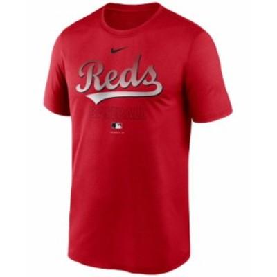 ナイキ メンズ Tシャツ トップス Cincinnati Reds Men's Authentic Collection Legend Practice T-Shirt Red