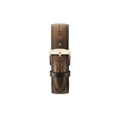 特別価格Ethan Eliot クラシックメンズ腕時計バンド 40mm 本物のダークブラウンレザーストラップ ローズゴールドバックル付き (ES40-RLDB好評販売中