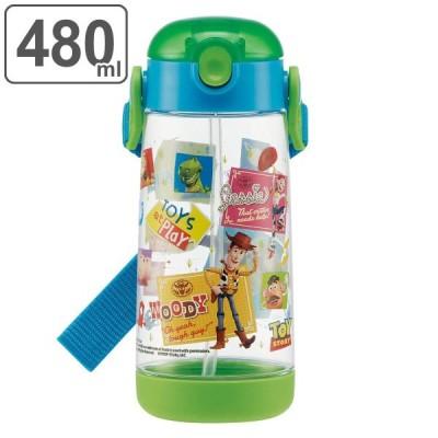 水筒 ストロー ワンプッシュ プラスチック トイ・ストーリー 480ml 子供 ( トイストーリー ストローボトル プラスチック製 幼稚園 保育園 軽量 )