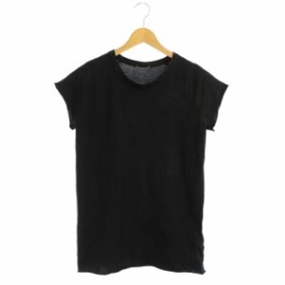 【中古】ドゥーズィエムクラス DEUXIEME CLASSE 18SS ラグランTシャツ 半袖 黒 /KN ■OS レディース