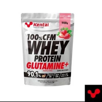 [Kentai]100%CFM ホエイプロテイン グルタミンプラス(スーパーデリシャス)/ストロベリー風味/700g(K222)