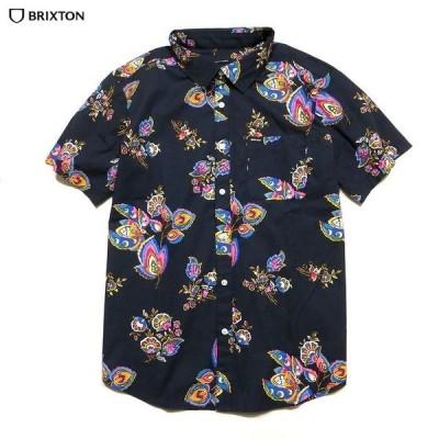 BRIXTON ブリクストン トップス シャツ CHARTER PRINT S/S WOVEN ブロードシャツ ボタニカル柄 花柄 半袖シャツ