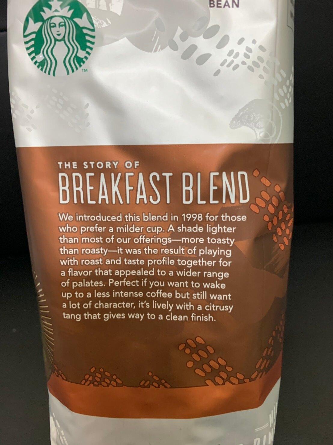 預購中-好市多 STARBUCKS 早餐綜合咖啡豆 1.13kg 星巴克 咖啡 沖泡 咖啡豆 烘焙豆