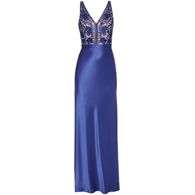 CATHERINE DEANE ロングワンピース&ドレス ブルー 8 トリアセテート 78% / ポリエステル 22% / ナイロン / レーヨン