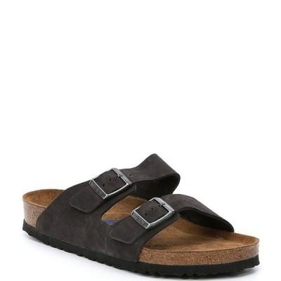 ビルケンシュトック メンズ サンダル シューズ Arizona Men's Suede Double Banded Slip On Sandals