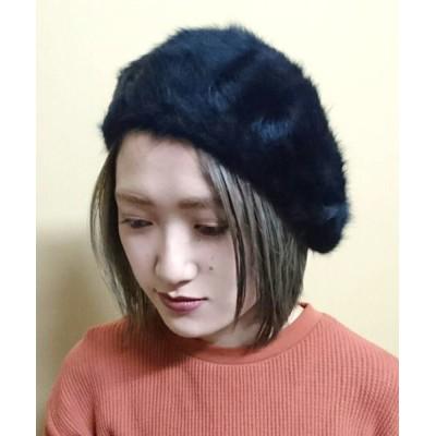 polcadot / Angola Beret   ふわふわ アンゴラベレー WOMEN 帽子 > ハンチング/ベレー帽