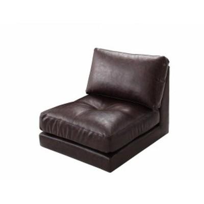 ソファー ソファ 1人掛け 一人掛け 1人用 一人用 一人暮らし 高級 おしゃれ リビング 座椅子 ローソファ レザー 革 合皮 (単品)1P 肘無