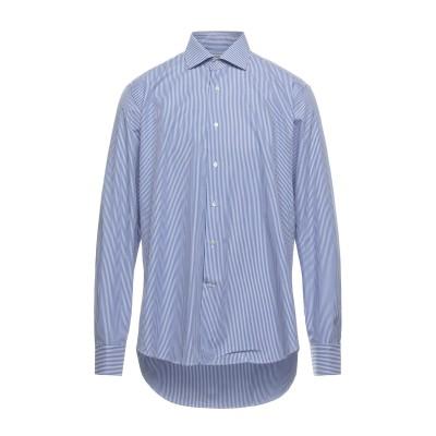 MATTEUCCI 1939 シャツ ブルー 44 コットン 100% シャツ