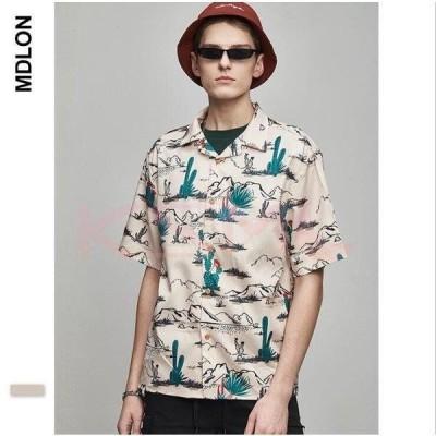 メンズ シャツ アロハシャツ メンズ 大きいサイズ 夏 花柄 シャツ 半袖 ハワイアンシャツ サーフ b系 ストリート系 男女兼用 ビッグTシャツ