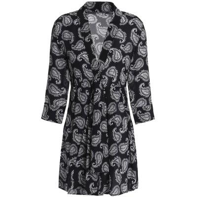 ドド・バー・オア DODO BAR OR ミニワンピース&ドレス ブラック 42 シルク 100% ミニワンピース&ドレス