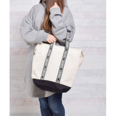 realize / 【78】【CONVERSE】2WAY ジャガードテープCANVAS TOTE WOMEN バッグ > トートバッグ
