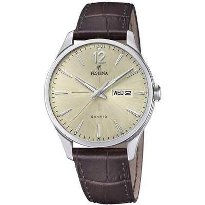腕時計 フェスティナ フェスティーナ F20205/1 Festina Mens Analogue Classic Quartz Watch with Le
