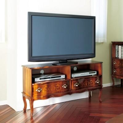 家具 収納 リビング収納 テレビ台 テレビボード イタリア製 猫脚 象嵌シリーズ テレビ台 幅111cm 568616