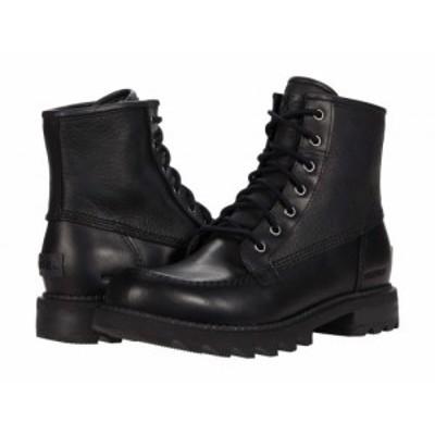 SOREL ソレル メンズ 男性用 シューズ 靴 ブーツ レースアップ 編み上げ Mad Brick(TM) Six Waterproof Black【送料無料】
