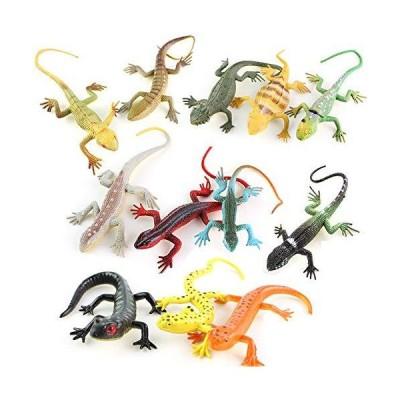 全国送料無料!12Pcs Mini Simulation Lizard Action Figure Toy,Gecko Animal Model Magic Trick Kids Educational Toy - 12pcs