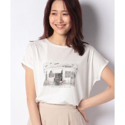 【プチ オンフルール】接触冷感フォトプリントTシャツ