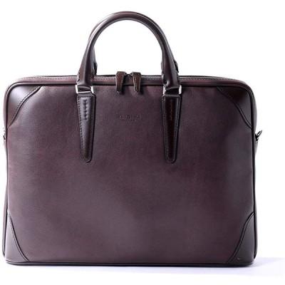 [フジタカ] レザービジネスバッグ A4薄マチ ジェードレザーII No.616502 チョコ